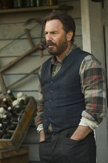 "Kevin Costner as Devil Anse Hatfield in the miniseries ""Hatfields & MCoys"" - HISTORY Photo"