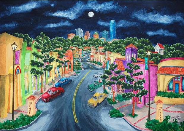 "Steve Whitfield, ""Paseo Moonlight,"" acrylic on canvas. Photo provided"