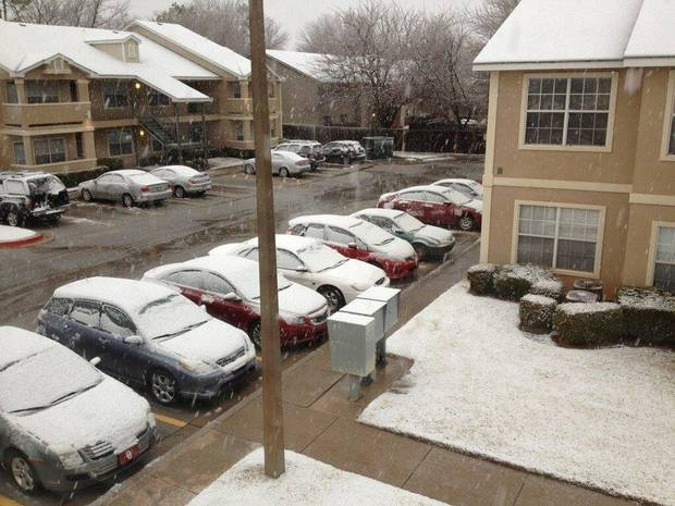 Snow in Norman. Photo by Joey Stipek