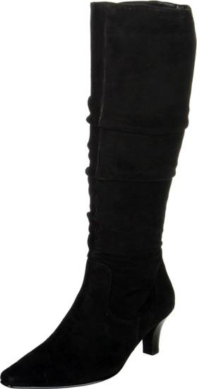 To get the first lady's elegant daytime look, try the Ros Hommerson Trumpet boot from Amazon.com for $129.97. (Amazon.com via Los Angeles Times/MCT)