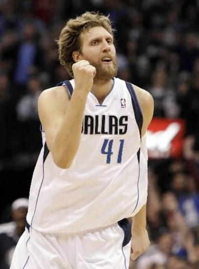 Dallas Mavericks forward Dirk Nowitzki.