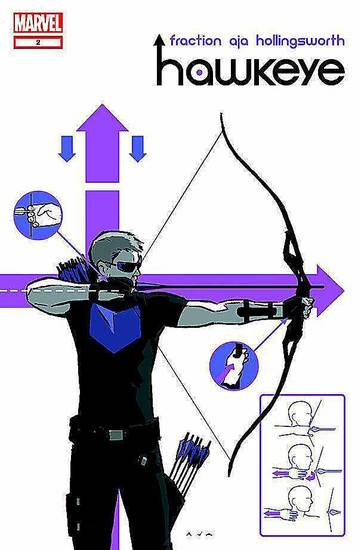 "The cover to ""Hawkeye"" No. 2.  Marvel Comics. <strong></strong>"