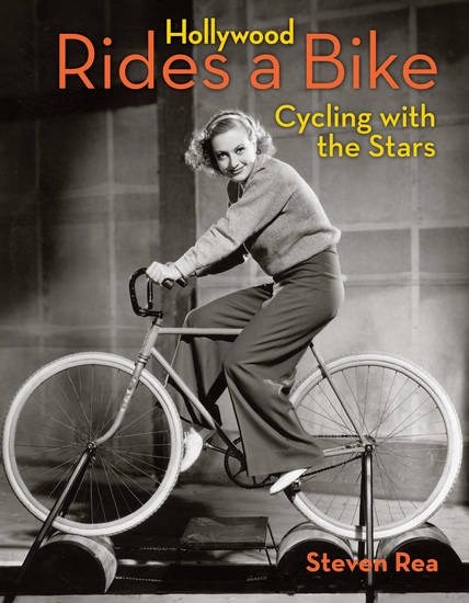 "Joan Crawford on the cover of ""Hollywood Rides a Bike.""  Angel City Press. <strong></strong>"