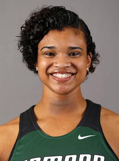 Tyler Wisby of the Edmond Santa Fe girls track team poses for a mug during the spring high school sports photo day in Oklahoma City, Wed. Feb. 27, 2013. Photo by Bryan Terry, The Oklahoman