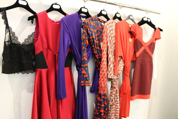 "These are some of the dresses Angela Schnabel tried on at Liberte before settling on the outfit she chose for her Mood ""Give Me Liberte"" makeover. Photo by Heather Warlick, The Oklahoman. <strong></strong>"