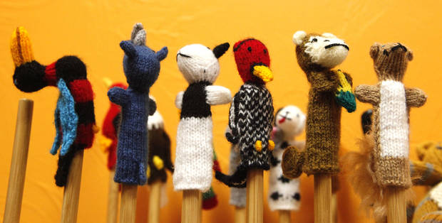 These finger puppets from Peru are for sale at  Pambe Ghana Global Market. Photo By David McDaniel, The Oklahoman. <strong>David McDaniel - The Oklahoman</strong>