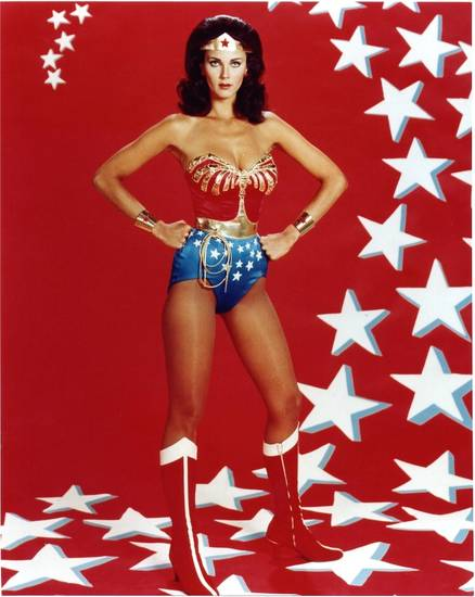Lynda Carter as Wonder Woman.
