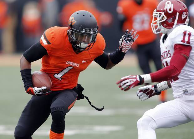 Cornerback Kevin Peterson will be one of three players representing Oklahoma State at Big 12 Media Days. Photo by Chris Landsberger, The Oklahoman
