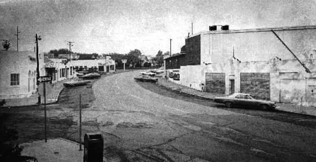 Paseo as it looked in the early 1970s when John Belt began buying and renovating properties. The Spaghetti Factory, shown to the right, is the one building that hasn't changed at all in the past 30 years.