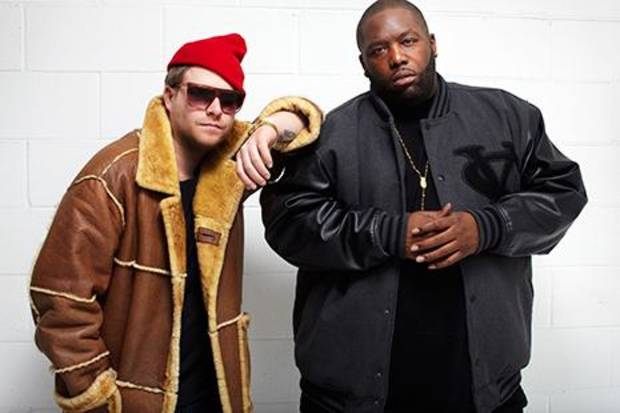 Together, longtime New York rapper/producer El-P (left) and Atlanta's Killer Mike are Run The Jewels. Photo via Fool's Gold Records.