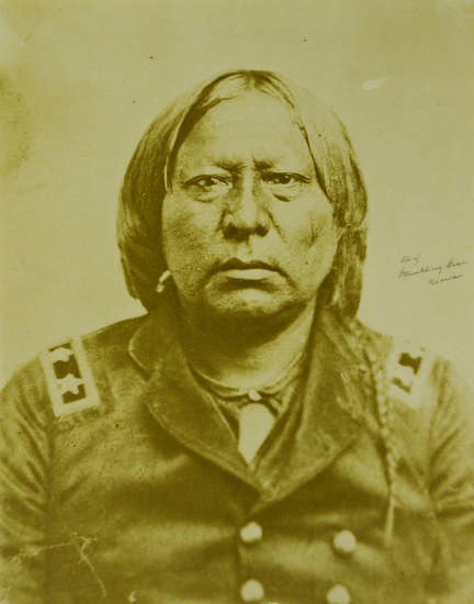 Kiowa Chief Stumbling Bear.  Photo provided