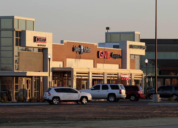 Above: New stores are along 24th Avenue NW in University North Park in Norman.