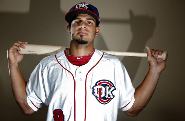 MINOR LEAGUE BASEBALL: Oklahoma City's Fernando Martinez poses for a photograph during media day for the Oklahoma City RedHawks in Oklahoma City, Tuesday, April 3, 2012. Photo by Sarah Phipps, The Oklahoman