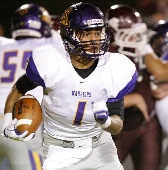 Anadarko running back Sheldon Wilson is part of an impressive Northeastern Oklahoma A&M Class of 2012. PHOTO BY BRYAN TERRY, THE OKLAHOMAN