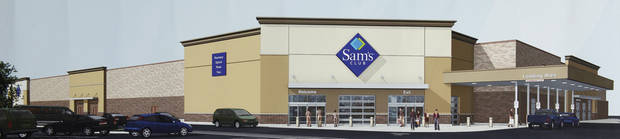 Sam's Club is building a new store just north of Walmart at 15th Street. <strong>PROVIDED - CITY OF EDMOND</strong>