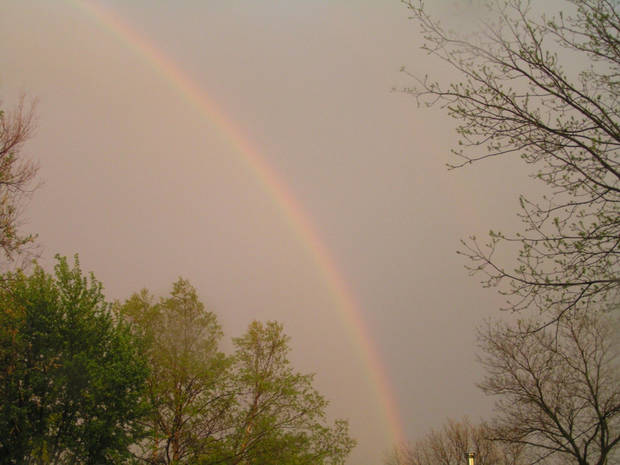 My youngest son Shawn took this picture after the storm.<br/><b>Community Photo By:</b> Shawn Lehman<br/><b>Submitted By:</b> Shawna, Midwest City