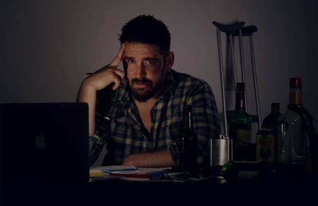 "Shawnee-area filmmaker Adam Hampton plays a drunken, frustrated writer/director in his new project, a Web series called ""Rough Cut,"" which is premiering at Duncan's Trail Dance Film Festival."