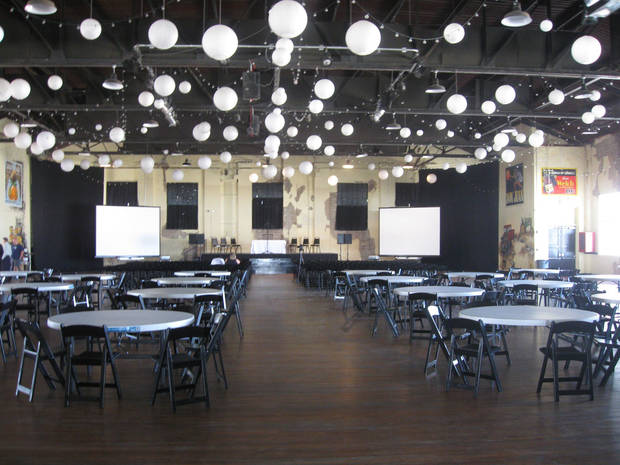 The ballroom at Farmers Public Market <strong></strong>