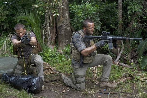 "Stonebridge (Philip Winchester) and Scott (Sullivan Stapleton) carry out a mission in the deep jungles of Colombia in the first episode of Season Three of  ""Strike Back,"" which debuts August 9 exclusively on Cinemax. Credit: David Bloomer/Cinemax"