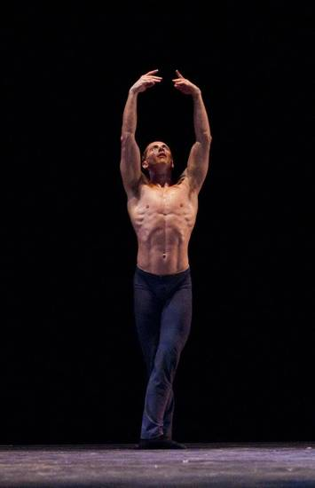 "Ronnie Underwood dances in Oklahoma City Ballet's 2010 performance of Helen Pickett's ""Zephyrus."" Underwood, who grew up in Tulsa, is returning to the OKC Ballet as a principal dancer. Photo provided."