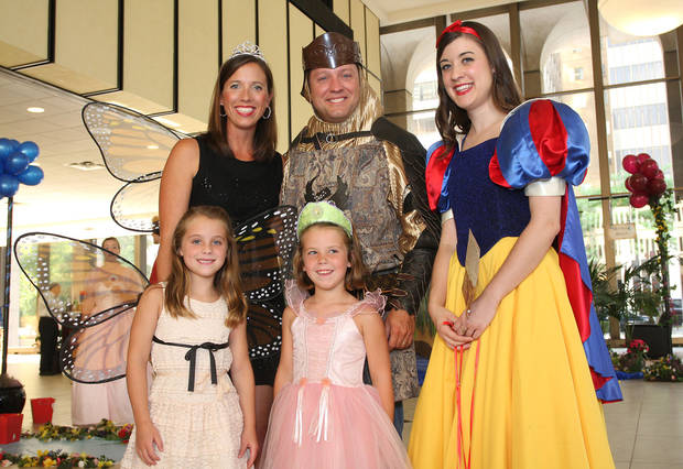 Halley Jayne Johnson, 7, Kathryn Johnson, Hannah Kate Johnson, 5, Cooper Johnson, Kaitlin Stark also dressed the part for the Ball.