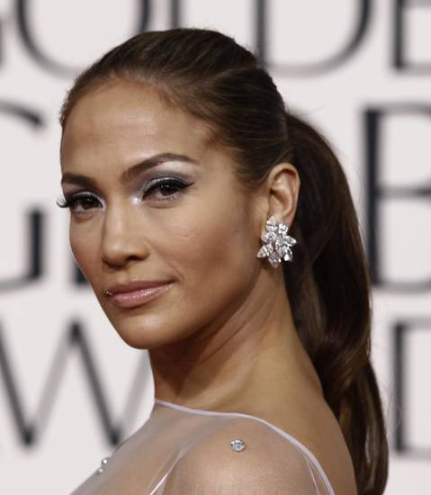 Jennifer Lopez at the Golden Globe awards. AP PHOTO