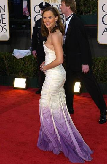 Jennifer Garner arrives for the 61st Annual Golden Globe Awards on Sunday, Jan. 25, 2004, in Beverly Hills, Calif. (AP Photo/Mark J. Terrill)