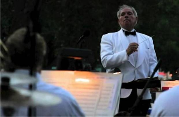 Dr. Irv Wagner leading his concert band at 2013's Tribute to Liberty in Midwest City. Photo provided.