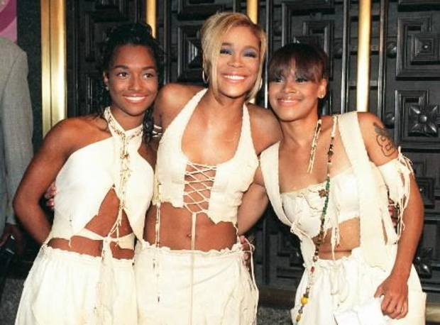"(from left) Rozond ""Chilli"" Tomas, Tionne ""T-Boz"" Watkins and the late Lisa ""Left Eye"" Lopes (AP photo)"