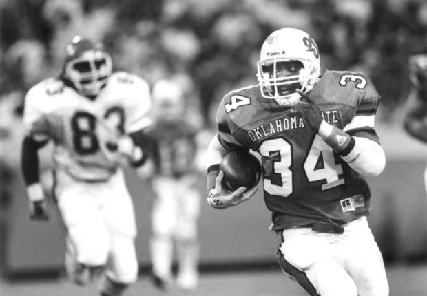 Former OSU running back Thurman Thomas gained 237 yards against Washington in 1985. (Oklahoman archive photo)