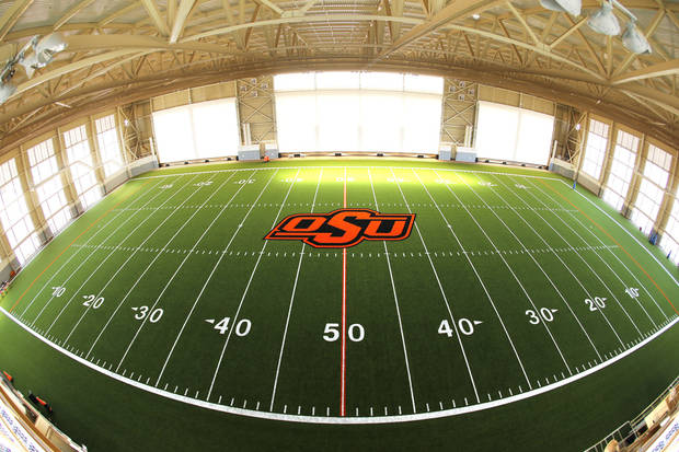 Oklahoma State had been the only Big 12 school without an indoor practice facility, but that changed with the opening of the Sherman Smith Training Center.Photo by Steve Sisney, The Oklahoman