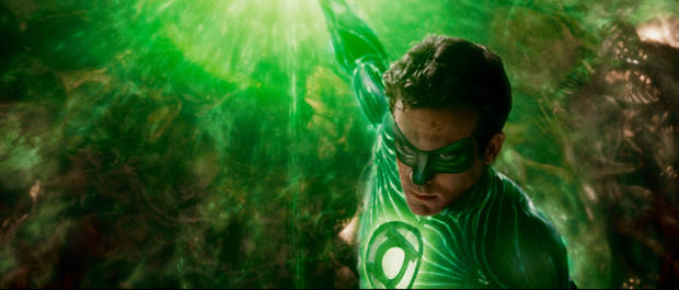 "GLT2-00125  RYAN REYNOLDS as Green Lantern in Warner Bros. Pictures' action adventure ""GREEN LANTERN,"" a Warner Bros. Pictures release."