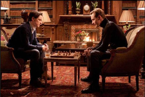 "From left, James McAvoy plays Charles Xavier/Professor X and Michael Fassbender plays Erik Lehnsherr/Magneto in ""X-Men: First Class."" Twentieth Century Fox Film Corporation photo <strong>Photo: Murray Close</strong>"