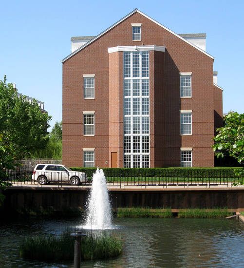 A fountain on the Chesapeake Energy campus.