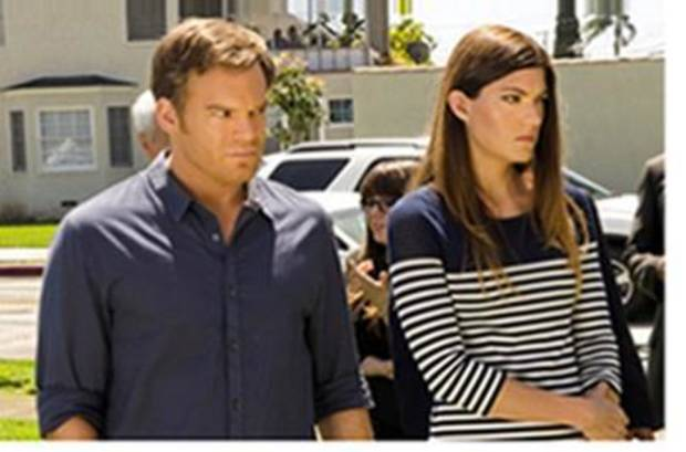 """Michael C. Hall and Jennifer Carpenter of """"Dexter."""" - Photo by Randy Tepper/Showtime"""