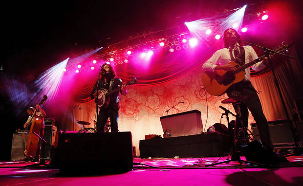 The Avett Brothers perform a concert at Chesapeake Energy Arena in Oklahoma City, Friday, July 27, 2012. Photo by Nate Billings, The Oklahoman