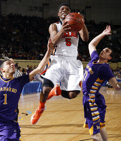 Douglass High School basketball player Stephen Clark, shown here during a March 2012 state tournament game, committed to play college basketball at Oklahoma State on Friday. PHOTO BY BRYAN TERRY, The Oklahoman Archive <strong>Bryan Terry</strong>