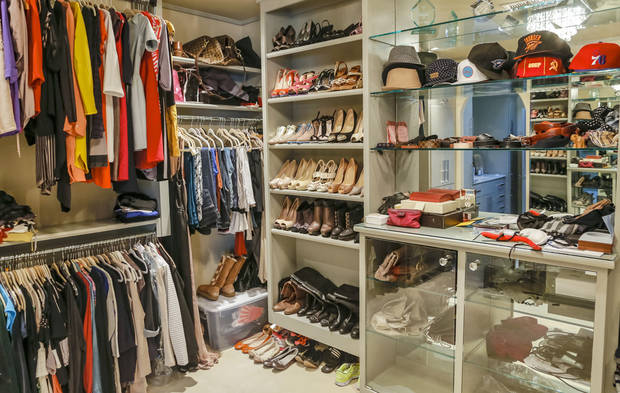 A clean and well-organized closet can take the stress out of getting dressed. Photo by Chris Landsberger, The Oklahoman. <strong>CHRIS LANDSBERGER</strong>