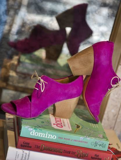 Coclico's pink-purple suede bootie from Heirloom Shoe will give any outfit a punch of color.Photo by Chris Landsberger, The Oklahoman