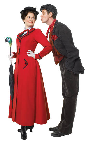 "Rachel Wallace and Case Dillard star as Mary Poppins and Bert in the musical ""Mary Poppins.""   Photo by Deen Van Meer  <strong></strong>"