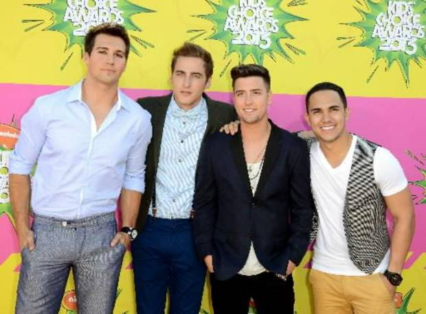 ig Time Rush, from left, James Maslow, Kendall Schmidt, Logan Hendewrson, Kendall Schmidt, and Carlos Pena, Jr. arrive at the 26th annual Nickelodeon's Kids' Choice Awards on Saturday, March 23, 2013, in Los Angeles. (AP file)