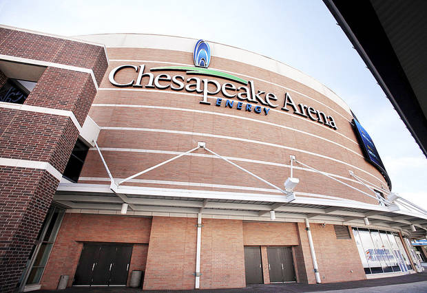 Chesapeake Energy Arena is shown in this photo. PHOTO BY JIM BECKEL, THE OKLAHOMAN