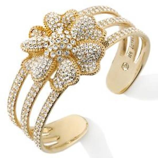 One of Paula Abdul's jewery cuffs, a limited-editiion crystal flower cuff.