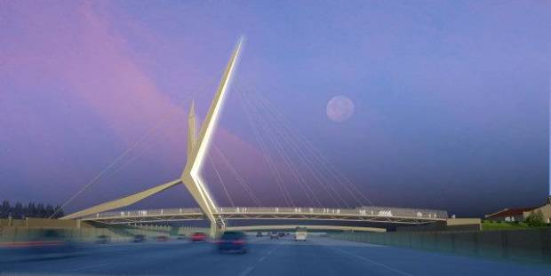 This artist�s drawing shows what the Skydance Bridge will look like. Drawing Provided