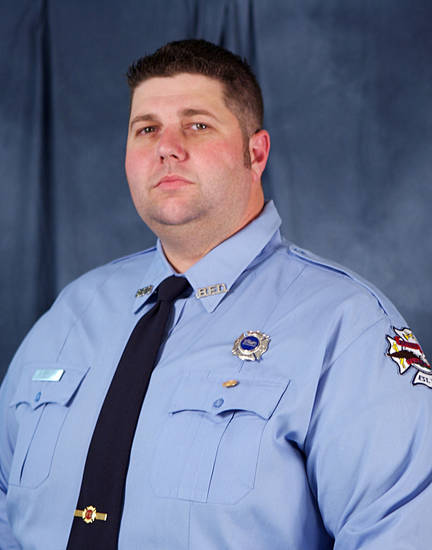 This photo provided by the City of Bryan shows Lt. Eric Wallace, who died Saturday, Feb. 16, 2013, during a lodge hall fire that killed him and another colleague. Two other firefighters are recovering at the University of Texas Medical Branch in Galveston. (AP Photo/City of Bryan)