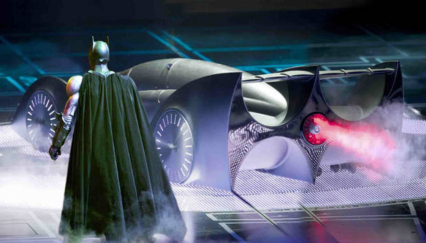 Batman and the Batmobile in �Batman Live.�