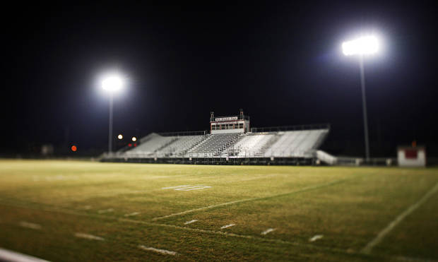 Tuttle High School football stadium on Wednesday, November 11, 2009. Photo by Bryan Terry, The Oklahoman ORG XMIT: KOD