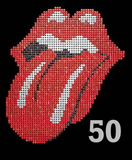 "This book cover image released by Hyperion shows ""The Rolling Stones 50,"" by Mick Jagger, Keith Richards, Charlie Watts and Ronnie Wood. In celebration of the band's 50th anniversary, the book offers stark commentary from the Stones to go with tour photos, candids and close-ups. Barnes & Noble is reccomending ""The Rolling Stones 50"" as a holiday gift for 2012. (AP Photo/Hyperion)"