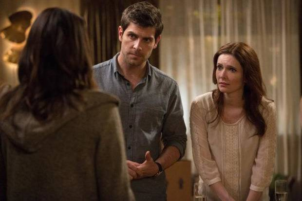 "GRIMM -- ""A Dish Best Served Cold"" Episode 303 -- Pictured: (l-r) David Giuntoli as Nick Burkhardt, Bitsie Tulloch as Juliette Silverton -- (Photo by: Scott Green/NBC)"
