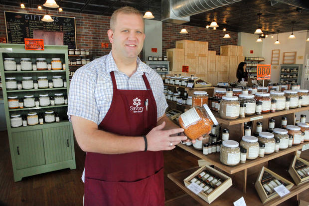 Able Blakley, owner of Savory Spice, in Oklahoma City, the first store to specialize strictly in spices, Friday, September 21, 2012. Photo By David McDaniel, The Oklahoman <strong>David McDaniel - The Oklahoman</strong>